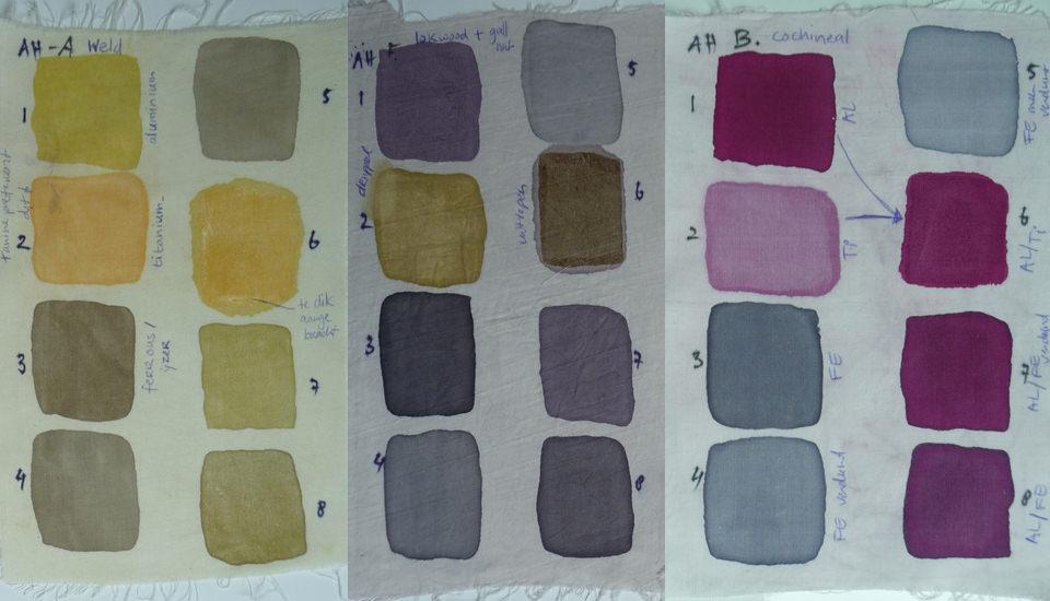 Mordant color charts